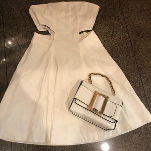 Bebe linen summer side cut out dress